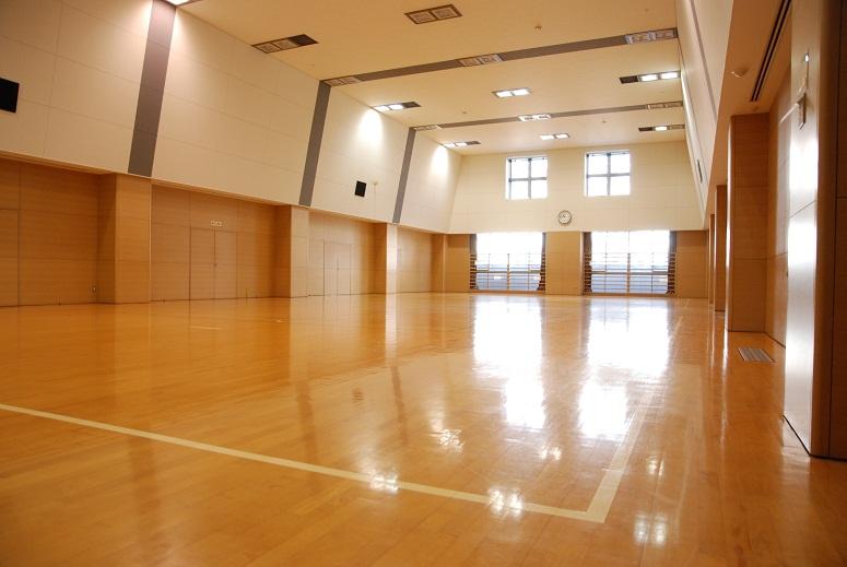 こちらの小体育館で教室開催します