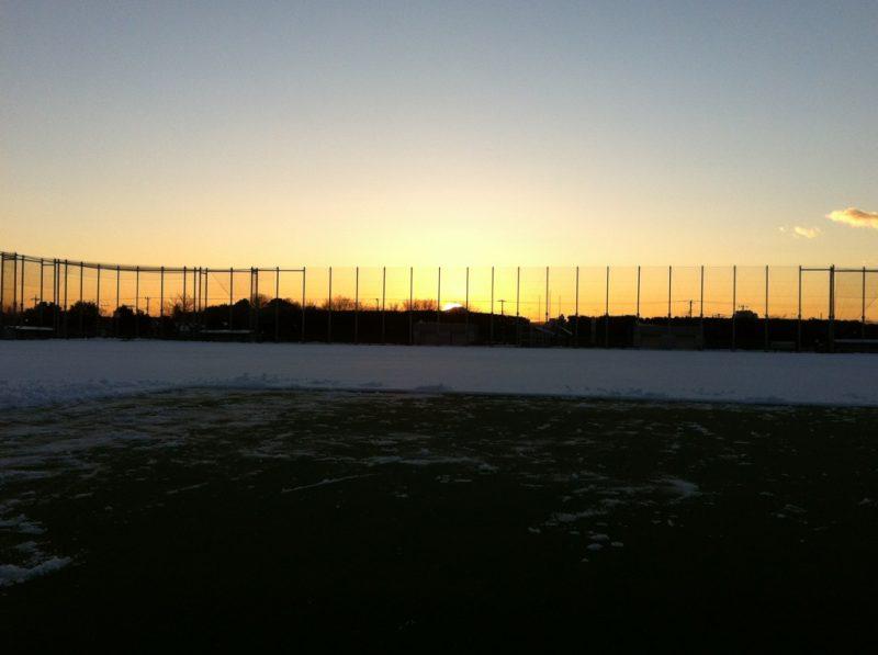 雪かきの最中にこんなにきれいな景色が観れました!