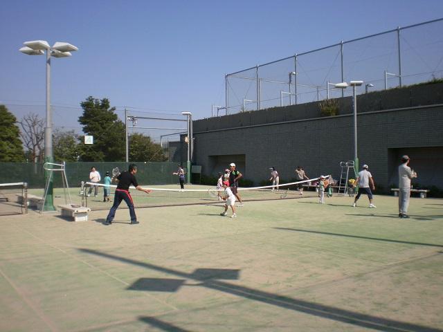 親子テニス教室の様子です